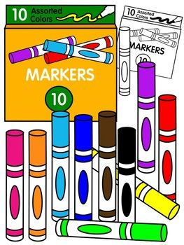 7 markers clipart graphic library library Marker clipart * color and black and white | Cliparts Freebies ... graphic library library