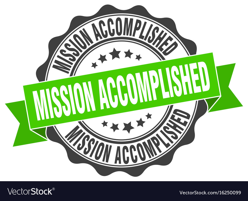 A mission clipart vector jpg black and white library Mission accomplished stamp sign seal jpg black and white library