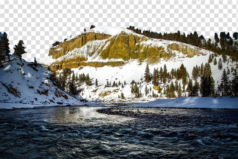A mountain with a water tower on it clipart image free stock Tower Fall Yellowstone Caldera Upper Yellowstone Falls Sheepeater ... image free stock