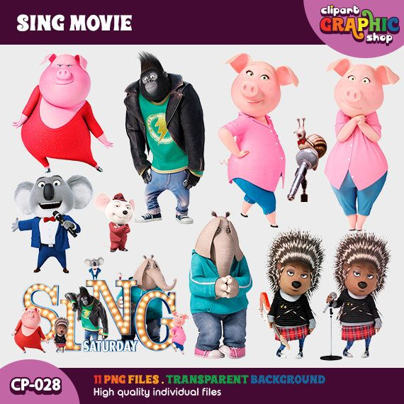 Sing movie clipart royalty free Sing Movie Cliparts CP-028 Welcome to Clipart Graphic! Digital ... royalty free