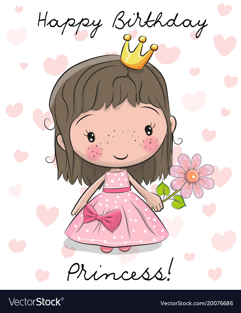 A new little princess clipart clip art free download Happy birthday card with little princess clip art free download