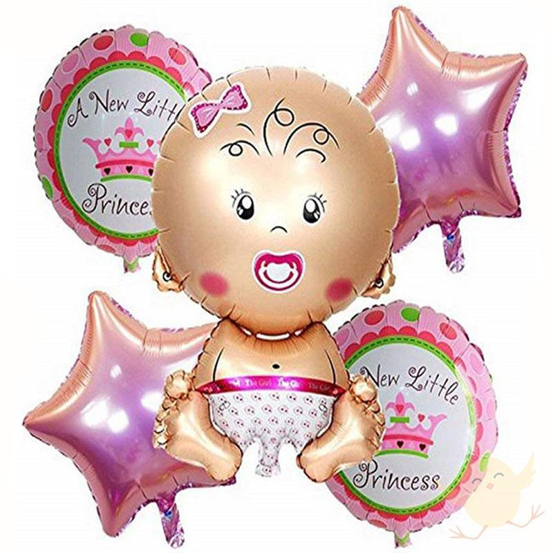 A new little princess clipart image download BALLOONS Foil A New Little Princess Girl Pack Of 5 image download