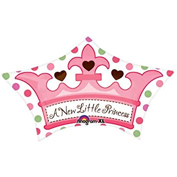 A new little princess clipart image freeuse stock Anagram International Little Princess Crown 24 Inch by 15 Inch Pink Green image freeuse stock