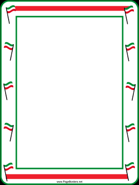 A night in italy clipart graphic black and white download Green, white and red flags decorate this free, printable, festive ... graphic black and white download