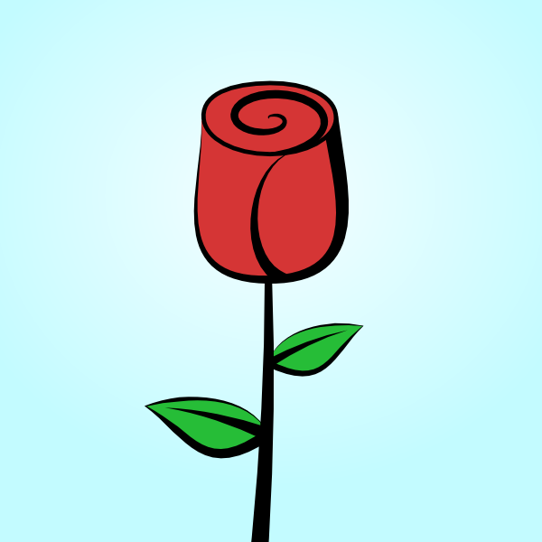 A open rose clipart vector transparent download How to Draw a Rose in Inkscape | GoInkscape! vector transparent download