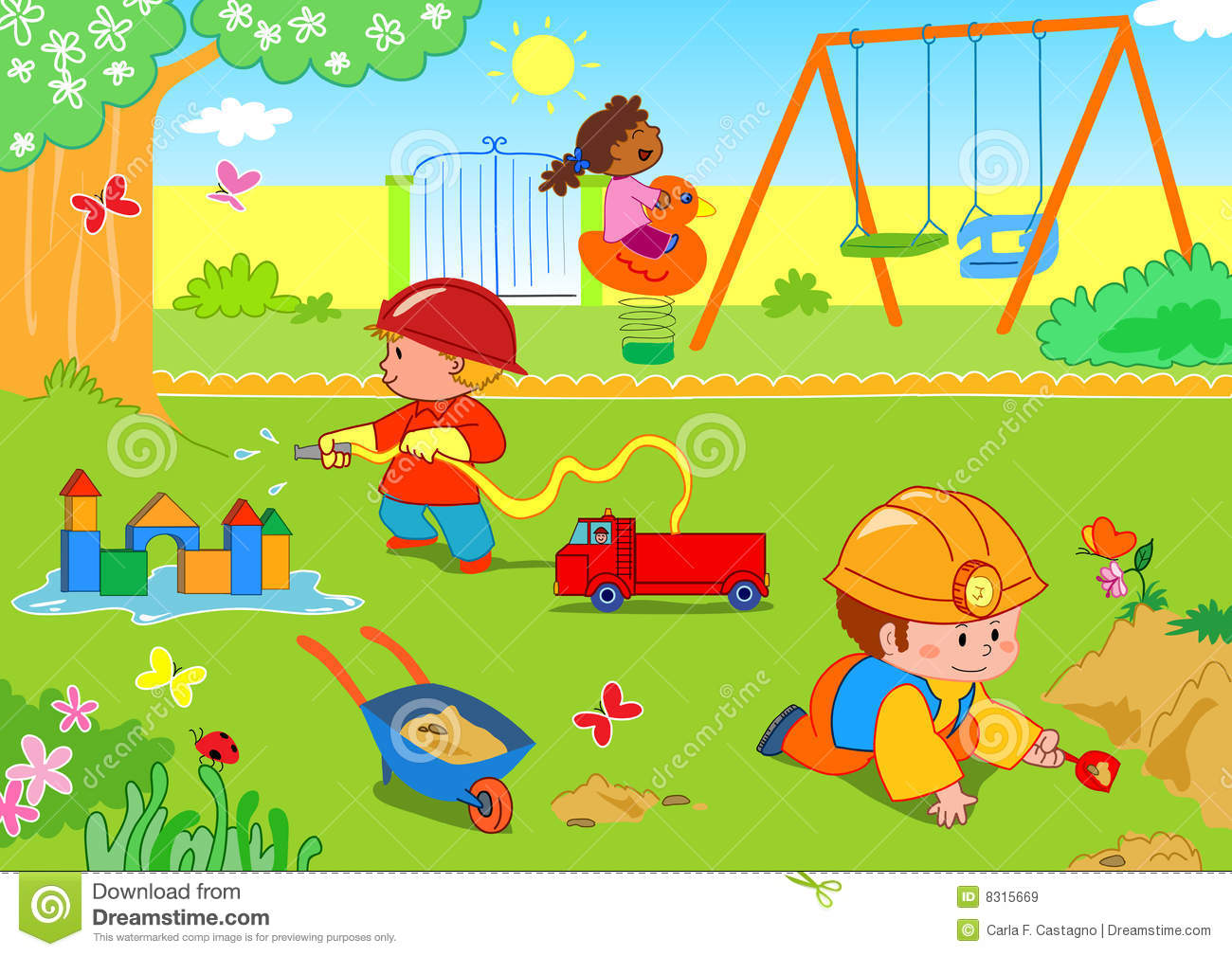 A park clipart clip royalty free library Playing at a park clipart 5 » Clipart Station clip royalty free library