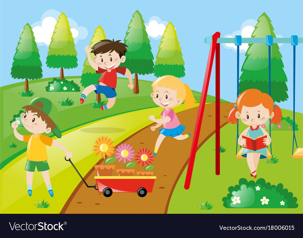 Kids playing in the park clipart jpg royalty free Children playing in a park clipart 8 » Clipart Portal jpg royalty free