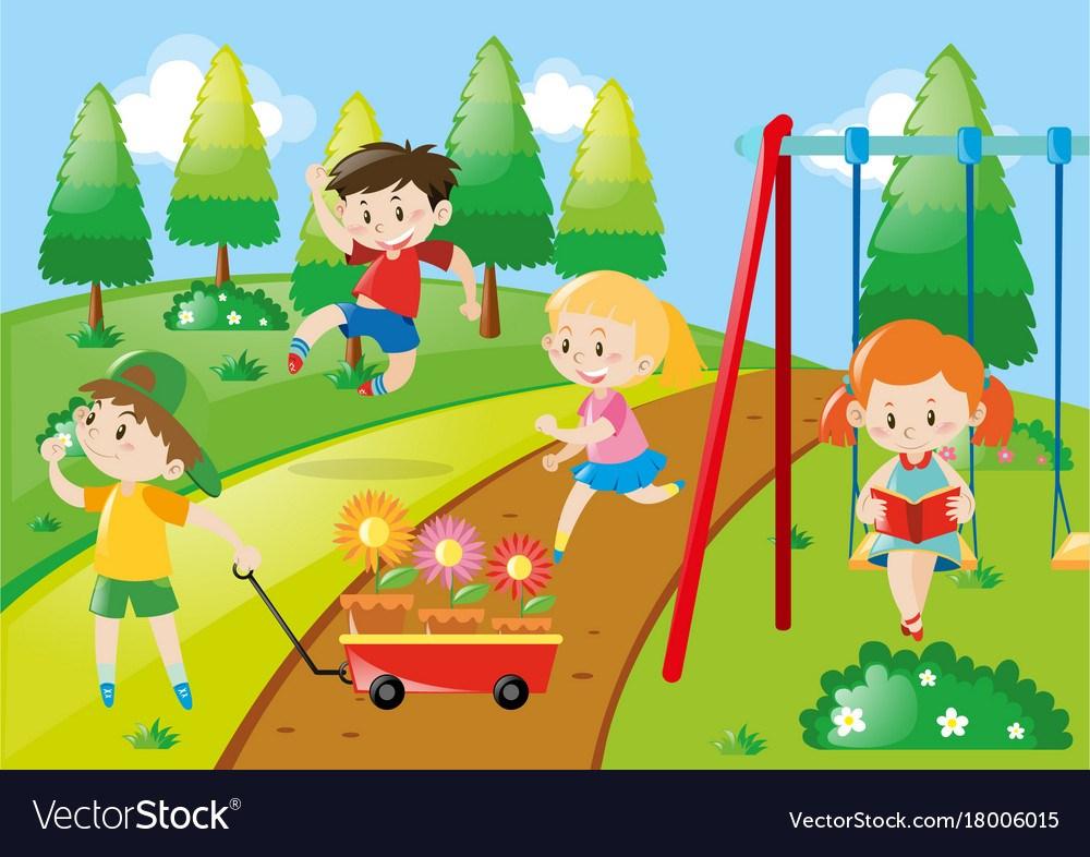 A park clipart clip freeuse stock Children playing in a park clipart 8 » Clipart Portal clip freeuse stock