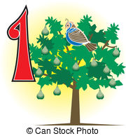 A partridge in a pear tree clipart clip transparent library Partridge pear tree Clip Art Vector Graphics. 20 Partridge pear ... clip transparent library