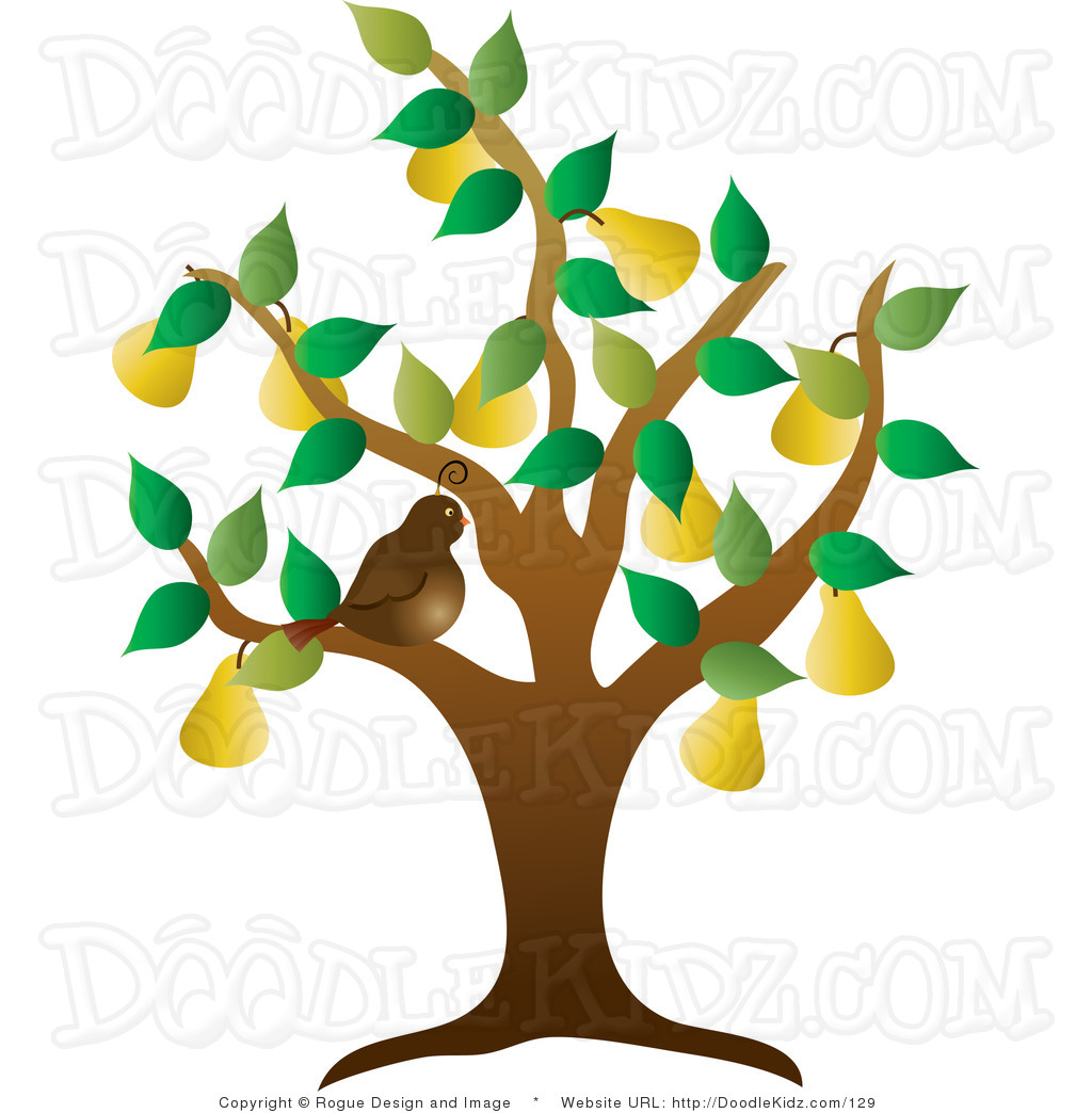 A partridge in a pear tree clipart banner black and white stock Partridge in a pear tree clip art - ClipartFest banner black and white stock