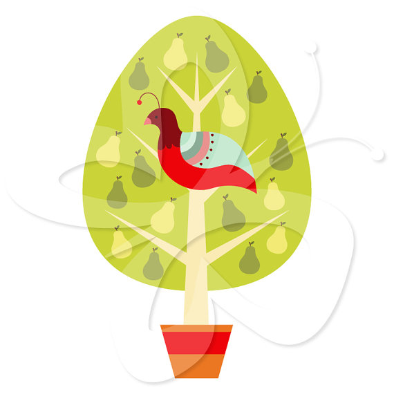 A partridge in a pear tree clipart svg A partridge in a pear tree clipart - ClipartFest svg
