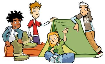 A person camping clipart