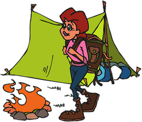 Camping books clipart jpg free library People Camping Clip Art Related Keywords & Suggestions - Free Clipart jpg free library