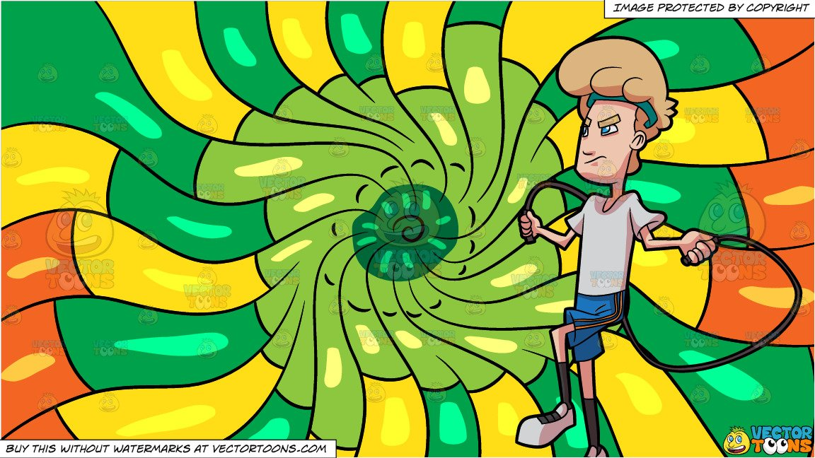 A person concentrating on working out clipart jpg free A Man Concentrating On His Jump Rope Workout and A Psychedelic Warm ... jpg free