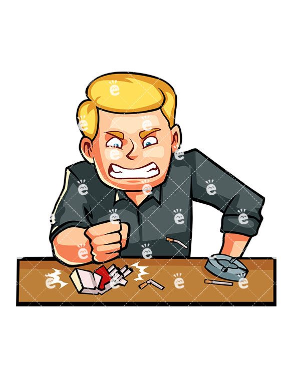 A person crushing on a person clipart picture free stock A Man Angrily Smashing A Box Of Cigarettes | Smoking Vector Clipart ... picture free stock