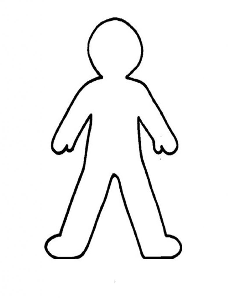 Clipart person drawing graphic transparent stock Outline Drawing Of A Person - ClipArt Best | Drawing - crafts in ... graphic transparent stock