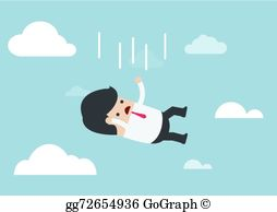 A person falling clipart picture black and white Person Falling Clip Art - Royalty Free - GoGraph picture black and white