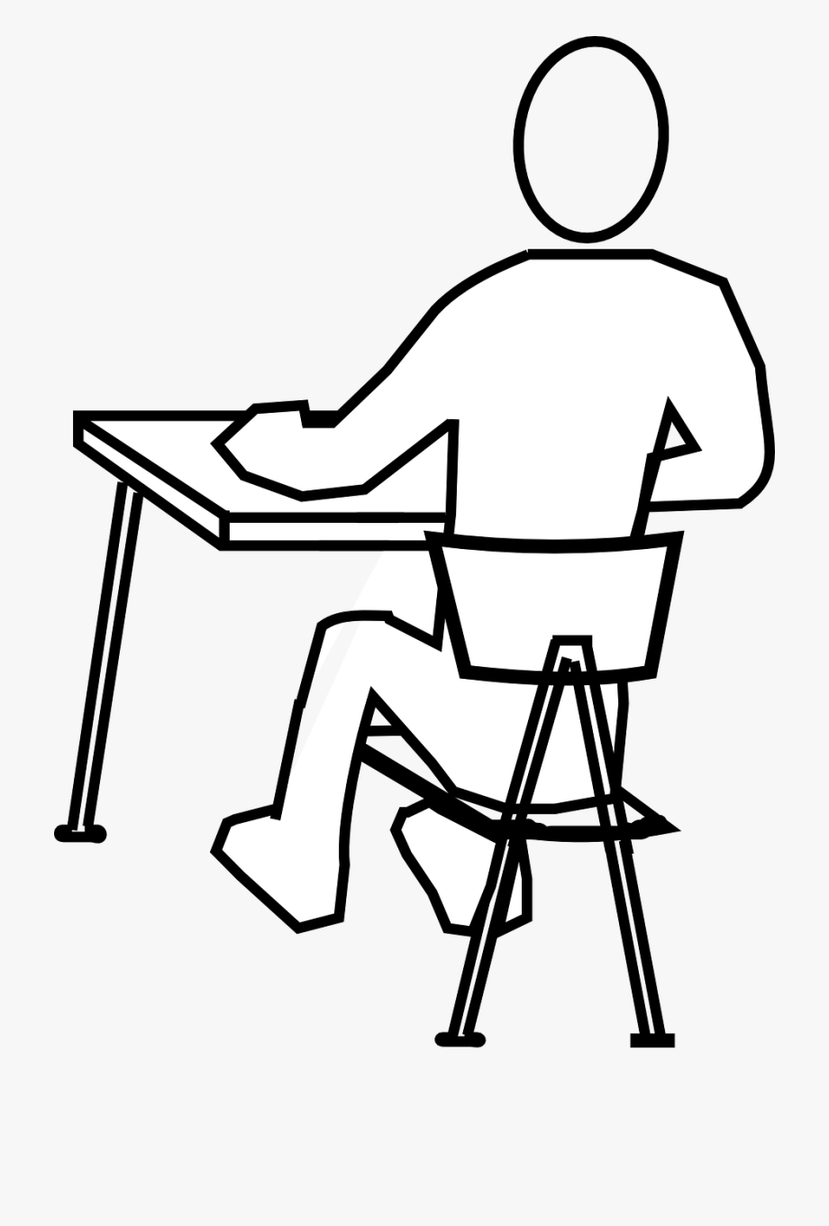 A person from clipart sitting from 1800