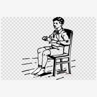 A person from clipart sitting from 1800 graphic free Chair Clipart Black And White - Boy Sitting On A Chair Png #1255158 ... graphic free