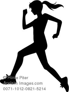 A person jogging clipart transparent Clipart Image of A Silhouette of a Young Woman Jogging | sports ... transparent
