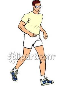 A person jogging clipart picture black and white download A Healthy Man Jogging - Royalty Free Clipart Picture picture black and white download