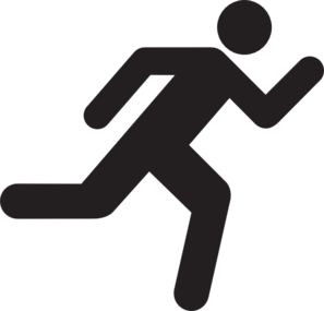 A person running clipart clip black and white library Person Running Clipart & Look At Clip Art Images - ClipartLook clip black and white library