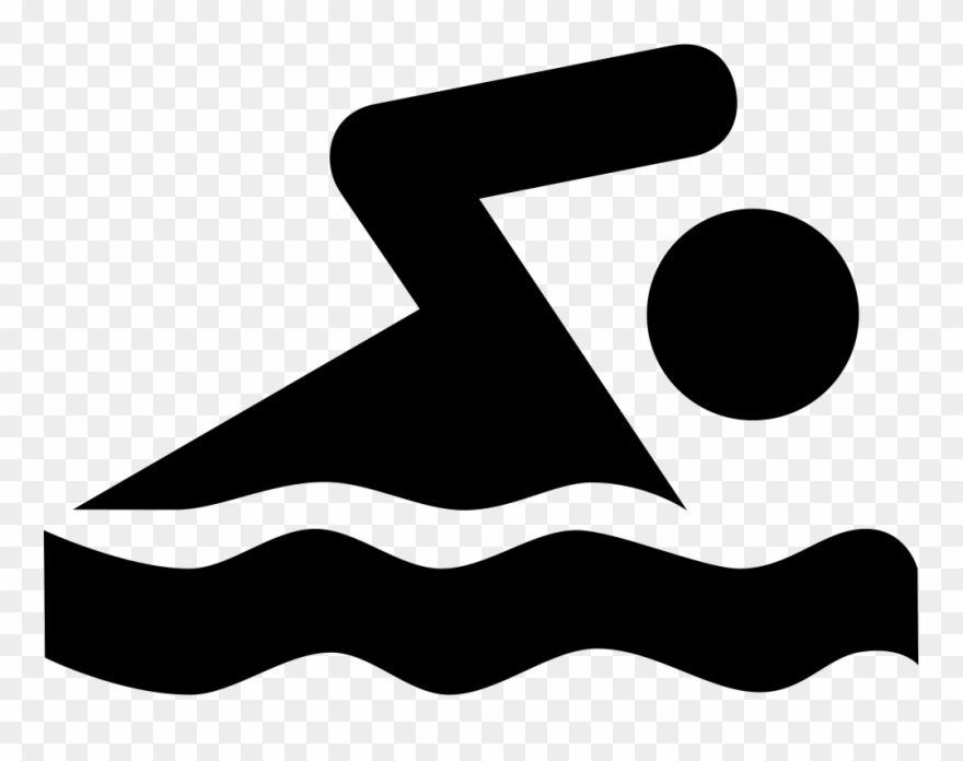 Swimming symbol clipart