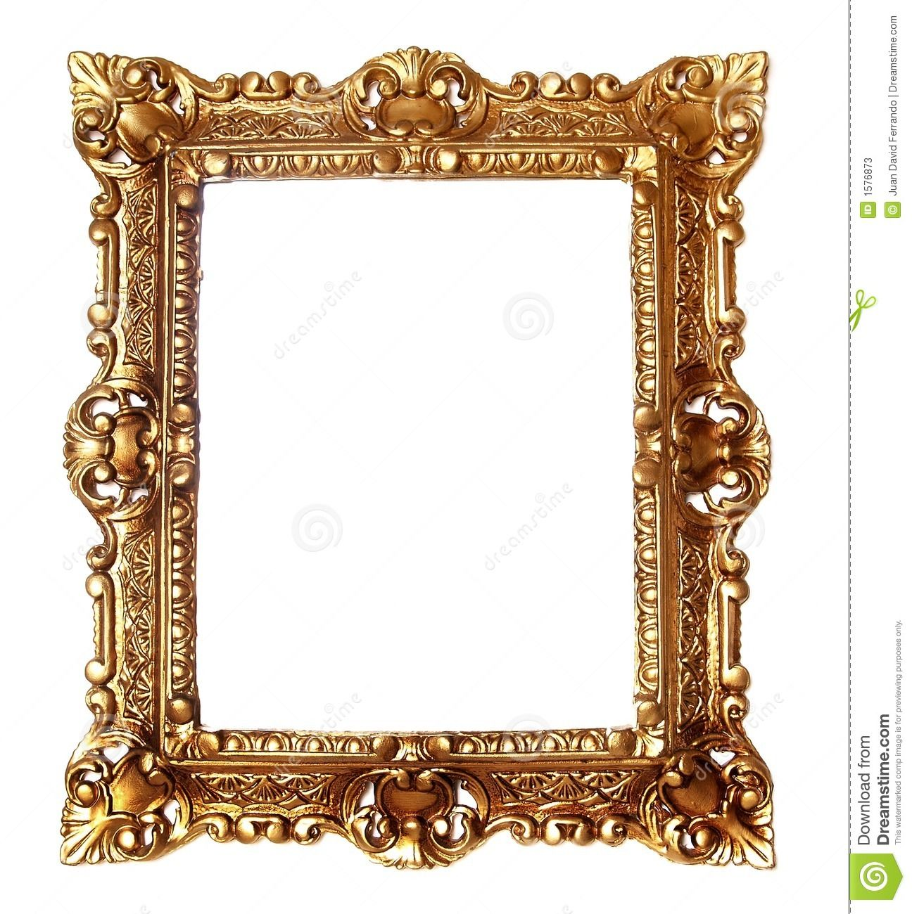 Antique gold panda free. Frame image clipart