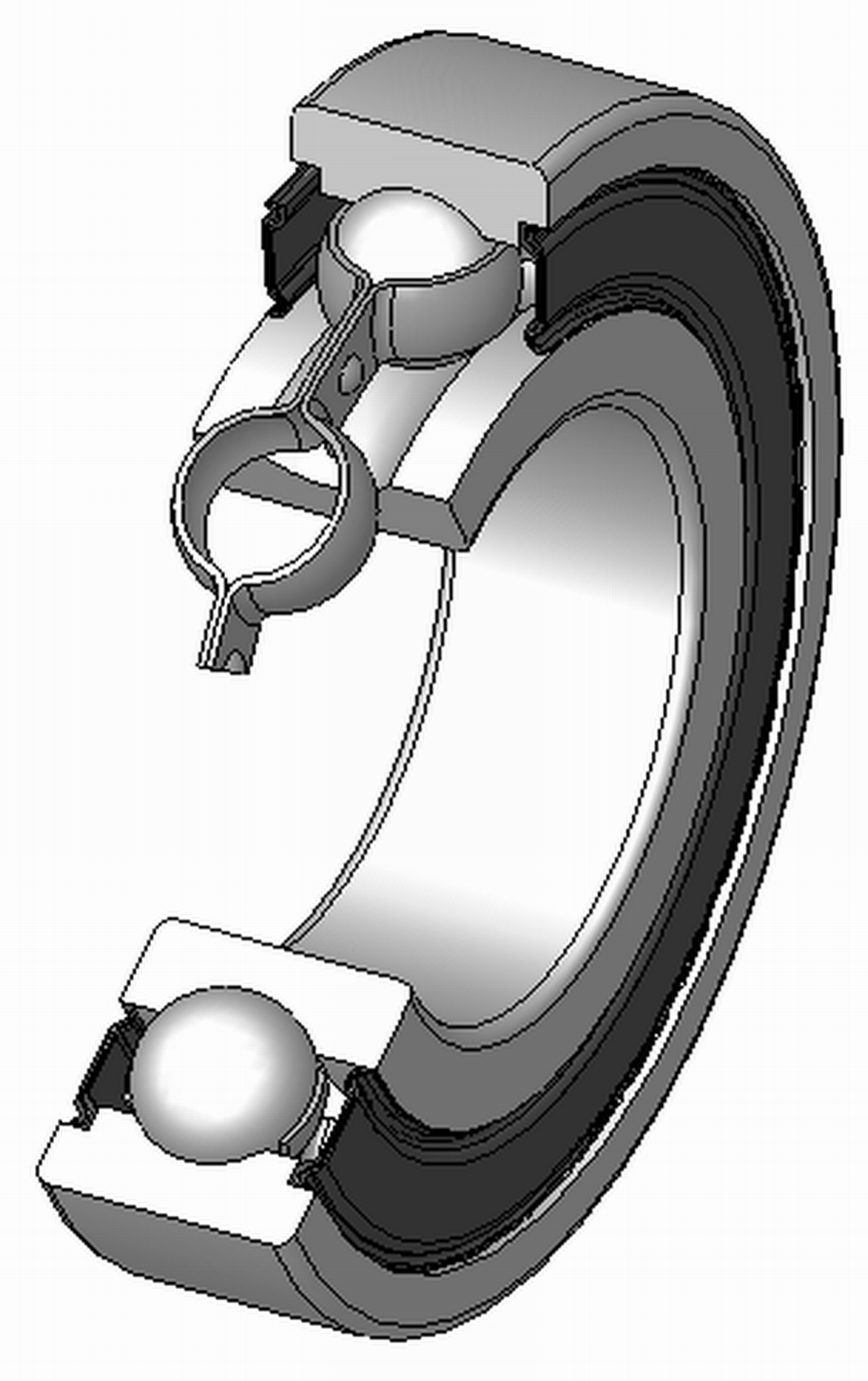 A picture of two rollers crossing each other and clipart vector freeuse stock Rolling-element bearing - Wikipedia vector freeuse stock