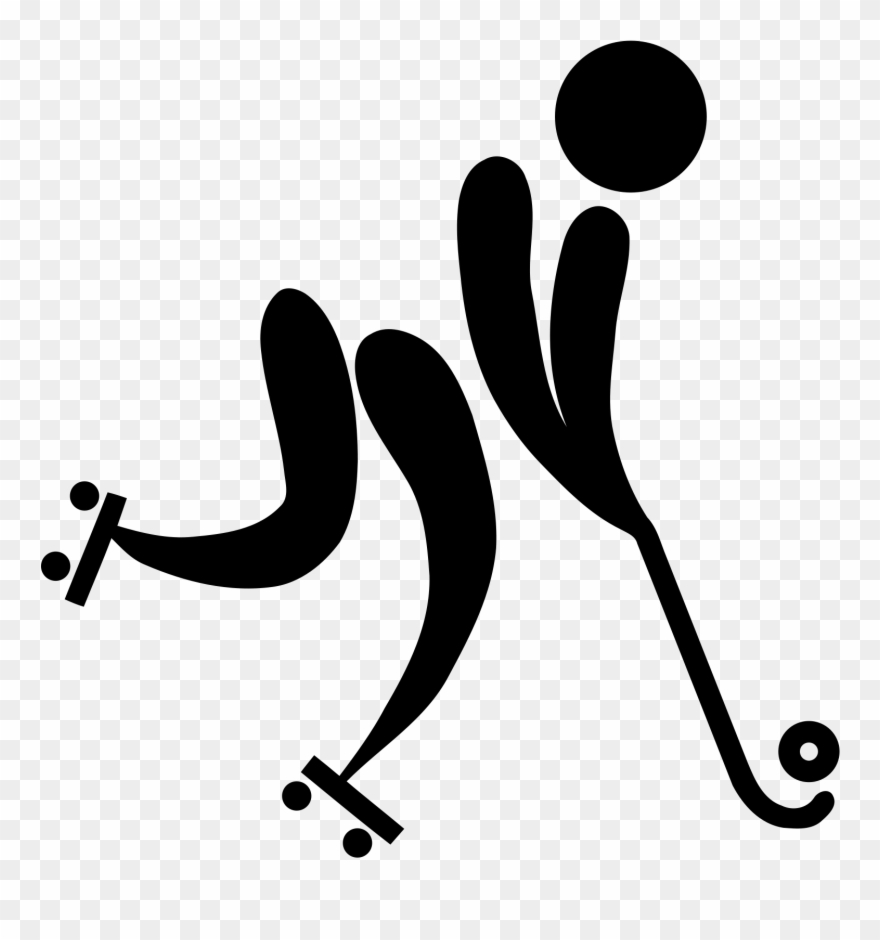 A picture of two rollers crossing each other and clipart vector Angolan Roller Hockey Championship - Field Hockey Stick Logo Clipart ... vector
