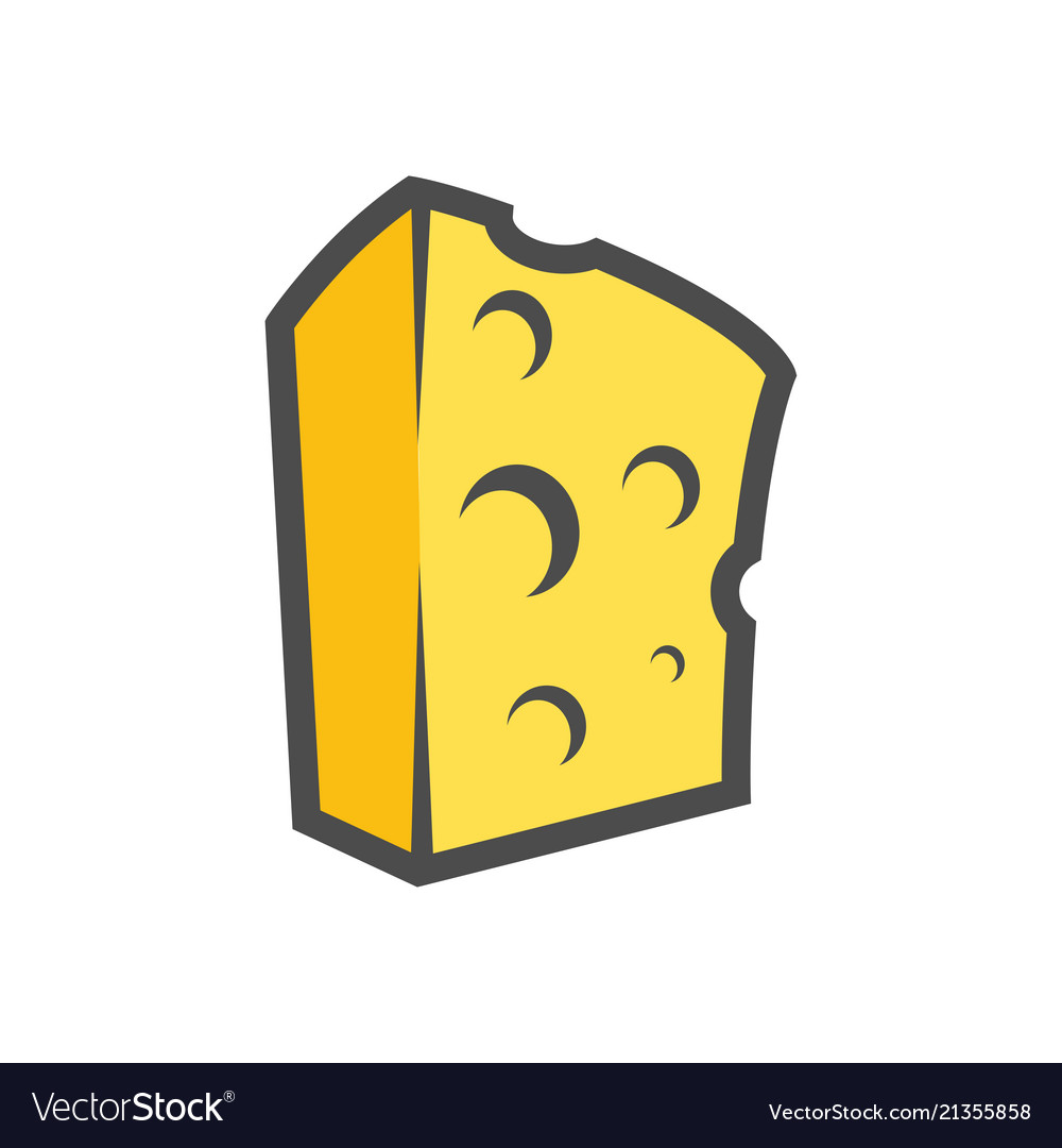 A piece of cheese clipart image Block of cheese clipart for icon or image