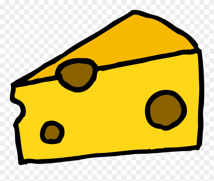 A piece of cheese clipart clipart black and white library Cheese Clipart - Clipart Cheese - Block Of Cheese Cartoon - Png ... clipart black and white library