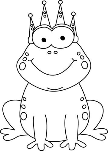 A prince clipart balck and white vector free library clip art black and white   Black and White Frog Prince Clip Art ... vector free library
