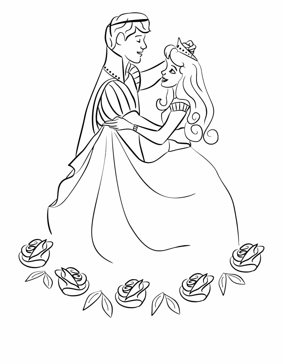 A prince clipart balck and white png free download Princess Clipart Black And White - Coloring Princess And Prince ... png free download
