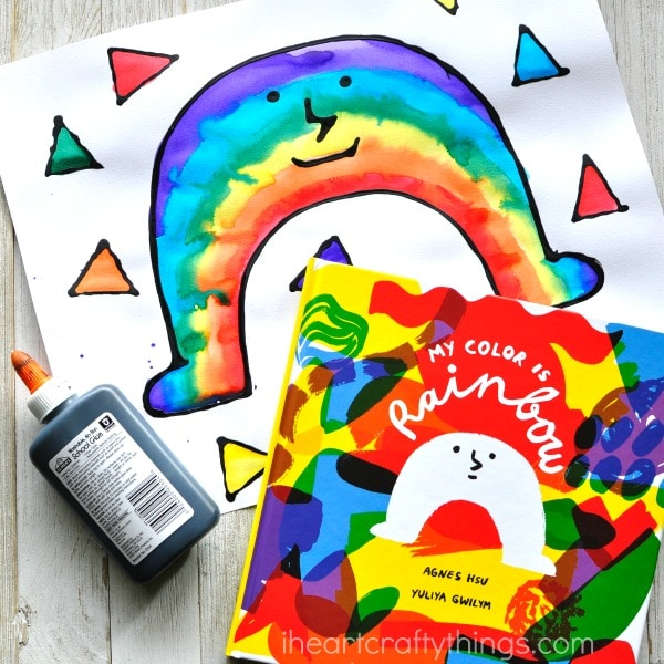 A rainbow that says stand out clipart clip art library library Black Glue and Watercolor Resist Rainbow Craft clip art library library