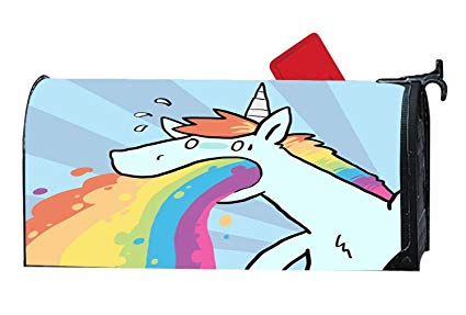 A rainbow that says stand out clipart clip transparent download Amazon.com: Unicorn and Rainbow Customized Magnetic Mailbox Cover ... clip transparent download