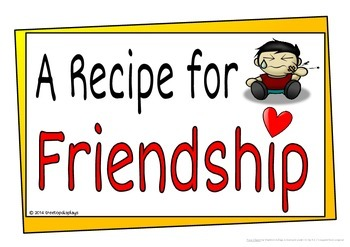 A recipe for friendship clipart