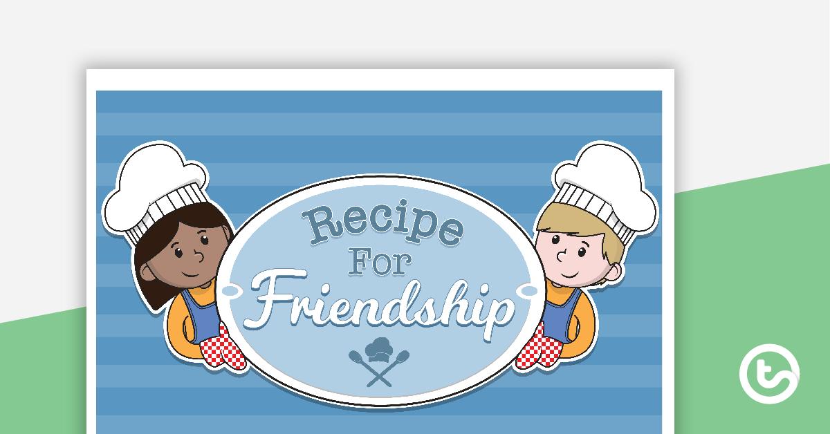 A recipe for friendship clipart banner stock Recipe for Friendship\' Activity Teaching Resource   Teach Starter banner stock