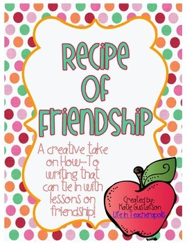 A recipe for friendship clipart png free Recipe of Friendship Writing Activity png free