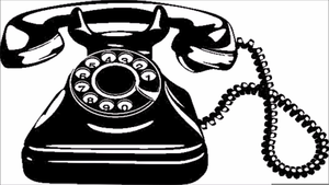 A rotary phone clipart png transparent library Rotary Phone Clipart   Free Images at Clker.com - vector clip art ... png transparent library