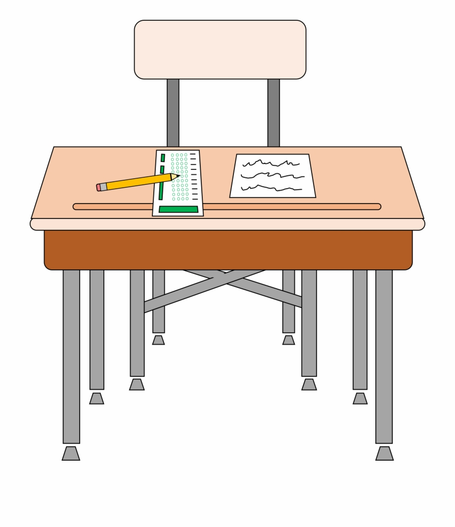 A school desk clipart vector freeuse download School Table And Chair Clipart 19 Desk Image Black - Classroom Desk ... vector freeuse download