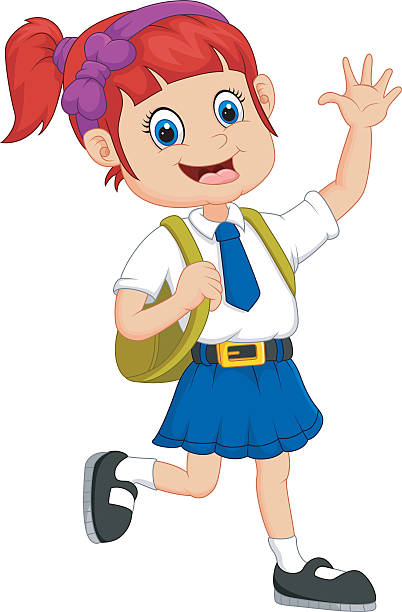 A school girl clipart svg royalty free library School Girl Clipart - Making-The-Web.com svg royalty free library