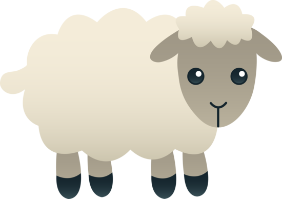 Clipart lambs graphic freeuse library Free clip art of a cute little fluffy white lamb | Assorted free ... graphic freeuse library