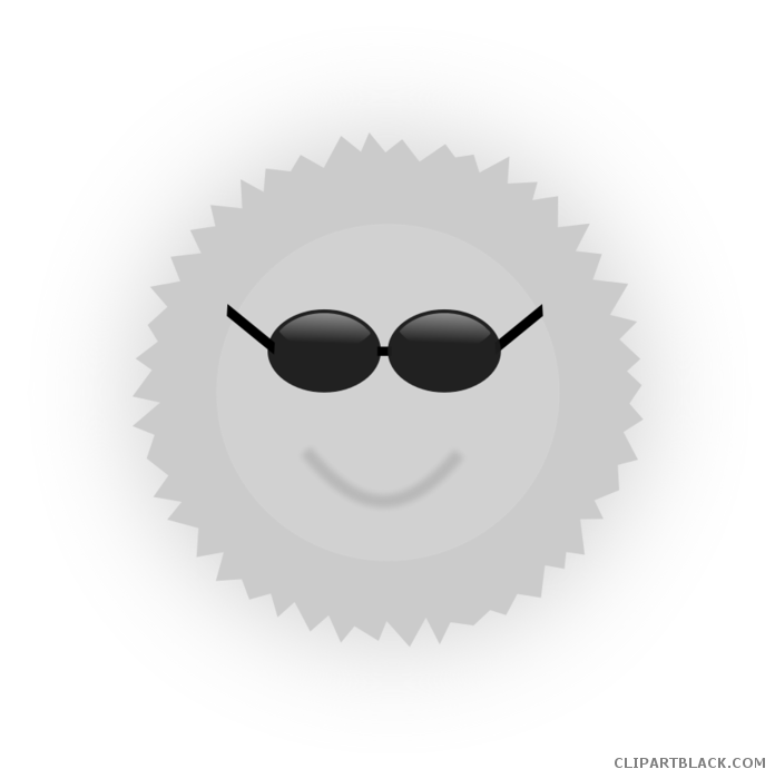 A smiling sun black and white clipart graphic royalty free stock Smiling Sun with Sunglasses Clipart - ClipartBlack.com graphic royalty free stock