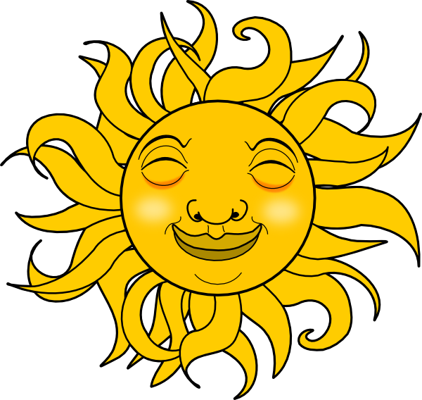 A smiling sun black and white clipart picture free library Smiling Sun Clipart Black And White | Clipart Panda - Free Clipart ... picture free library