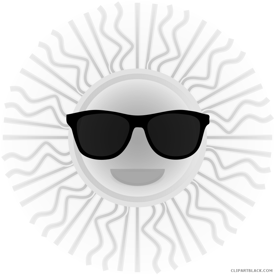 A smiling sun black and white clipart clip freeuse stock Smiling Sun with Sunglasses Clipart - ClipartBlack.com clip freeuse stock