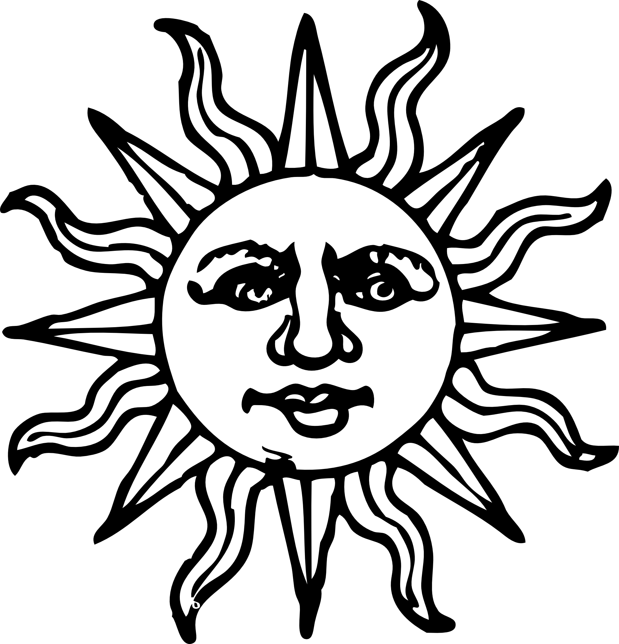 Tribal black and white clipart sun freeuse Sun Drawing Black And White at GetDrawings.com | Free for personal ... freeuse