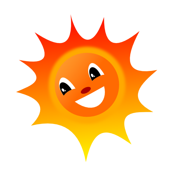 Smiley clip art at. Fiery sun clipart