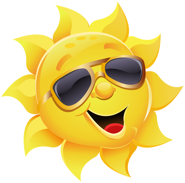 Clipart of sun wearing glasses