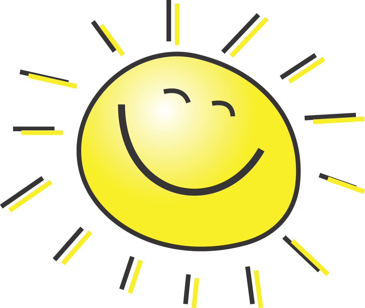 Clipart smiling sun vector transparent stock 5-Free-Summer-Clipart-Illustration-Of-A-Happy-Smiling-Sun - Sunshine ... vector transparent stock
